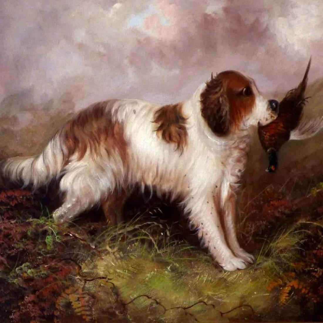 Antique Portrait of a Spaniel, by J. Langlois - 2
