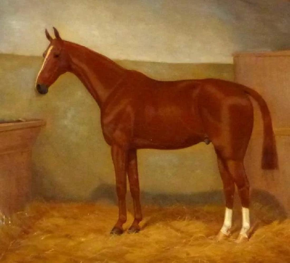 Portrait of a Horse in a Stall, by William A. Clark - 2