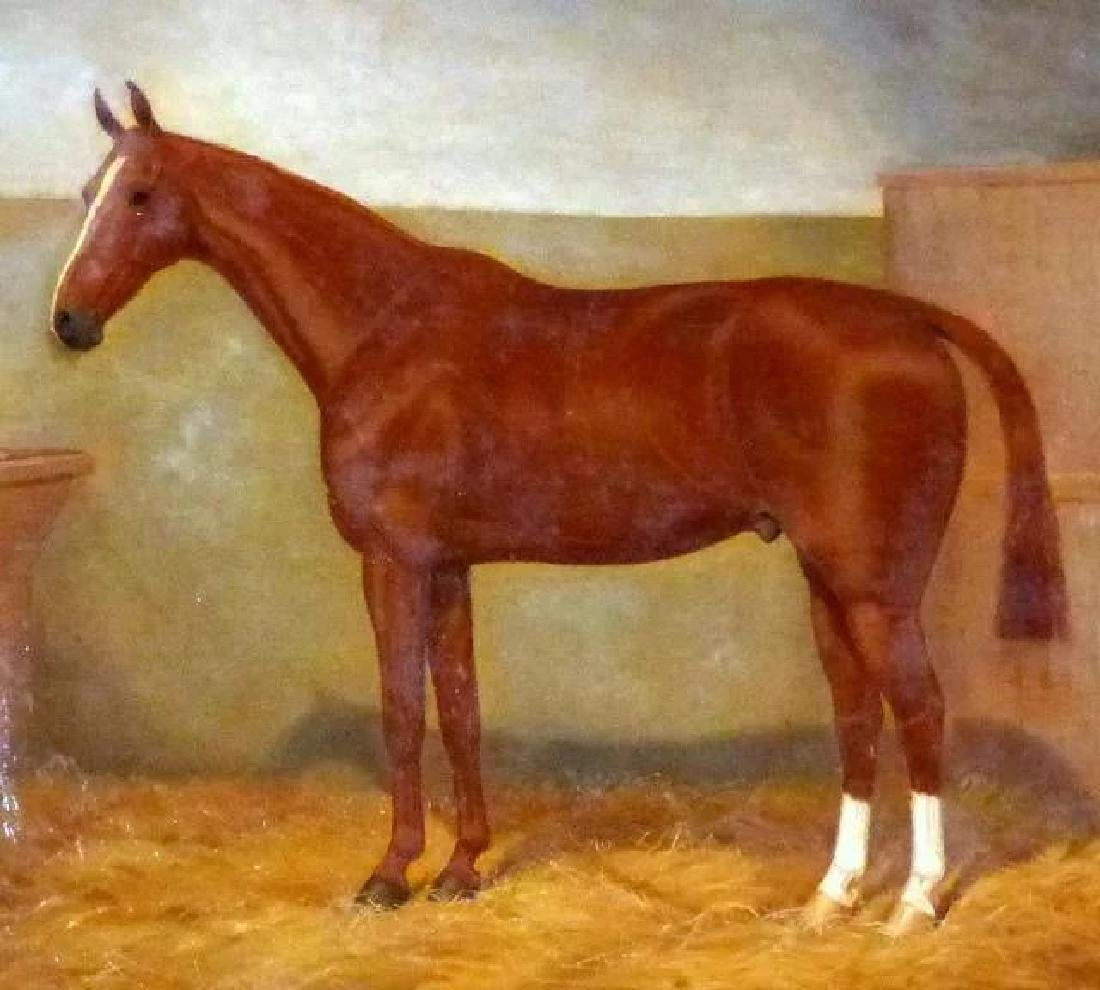 Portrait of a Horse in a Stall, by William A. Clark - 3