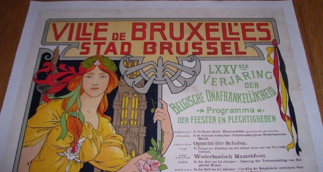 Vill'e De Bruxell'es Stad Brussel Belgian Poster - 3