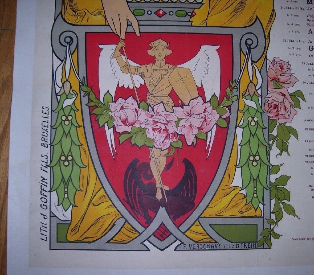 Vill'e De Bruxell'es Stad Brussel Belgian Poster - 4