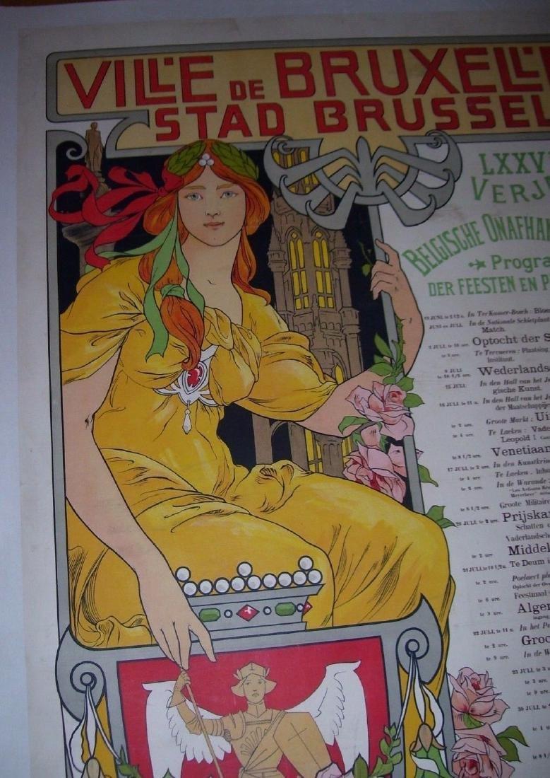 Vill'e De Bruxell'es Stad Brussel Belgian Poster - 5