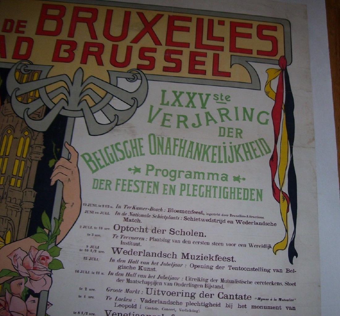 Vill'e De Bruxell'es Stad Brussel Belgian Poster - 6
