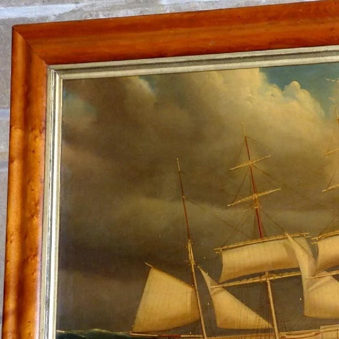 Antique Large 19th Century Portrait of the Barque, - 4