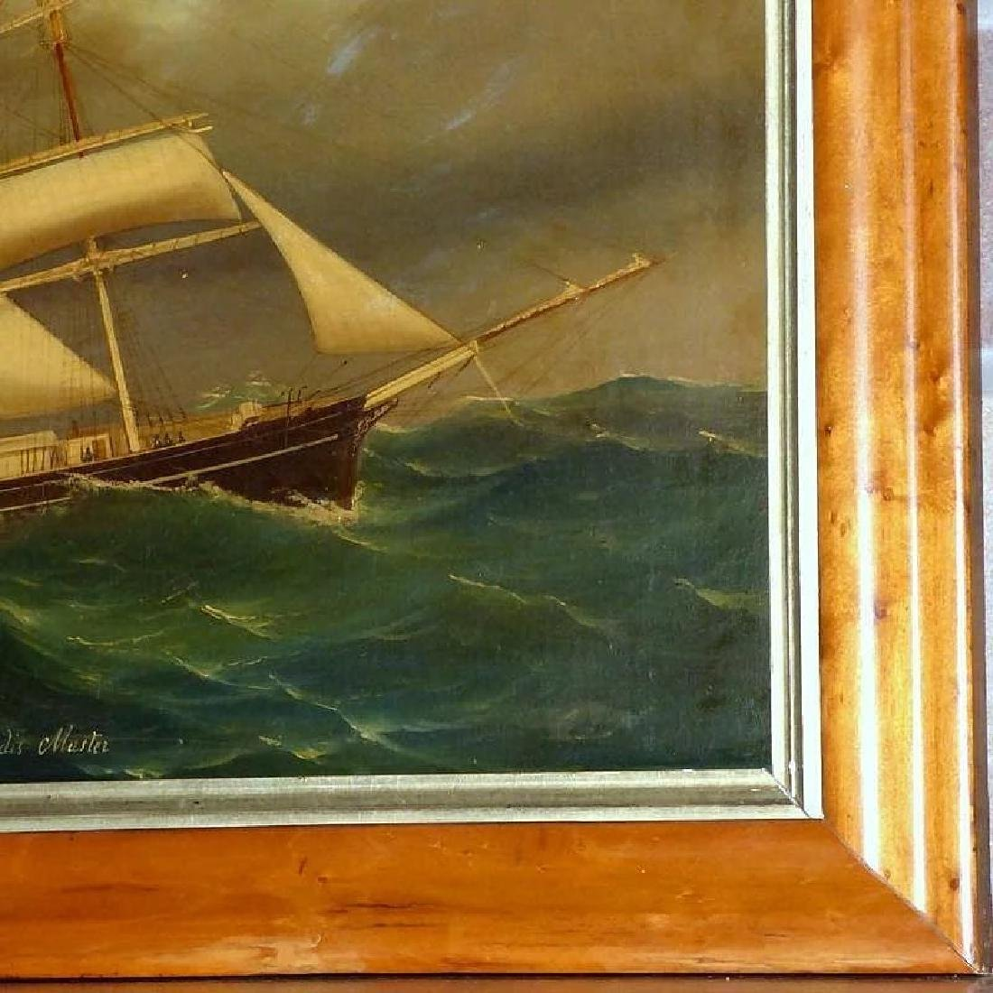 Antique Large 19th Century Portrait of the Barque, - 5