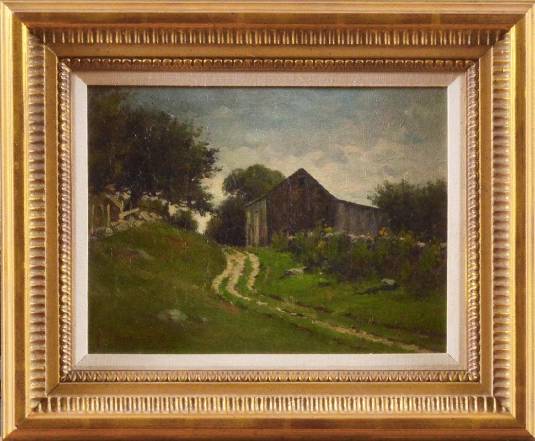 Edward Burrill oil on canvas Path to the Shed