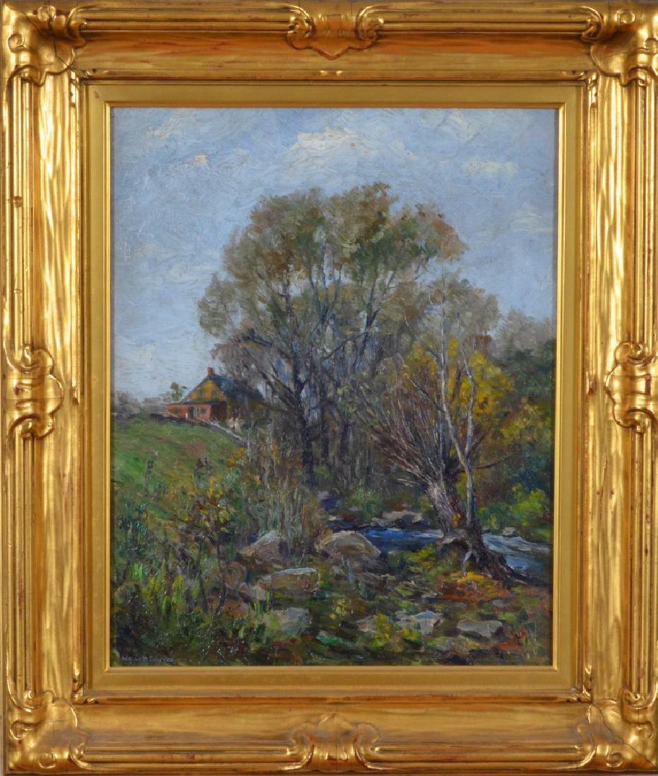 Wells M Sawyer oil on canvas Summer Landscape