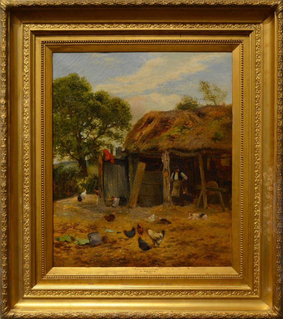 Alfred Banner painting Farm, Shropshire