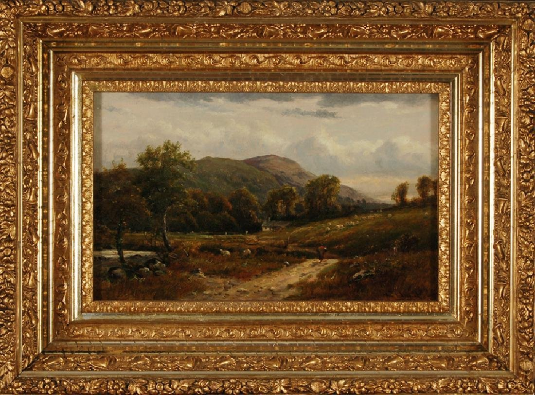 John Fullwood Oil Painting Near Aber North Wales