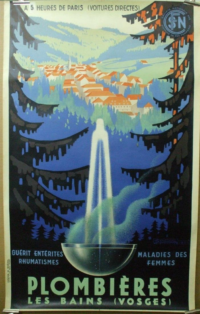 Plombieres Travel Poster
