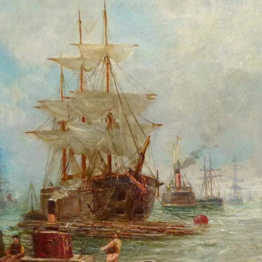 Antique Shipping Scene on the Tyne River, by Bernard B. - 2