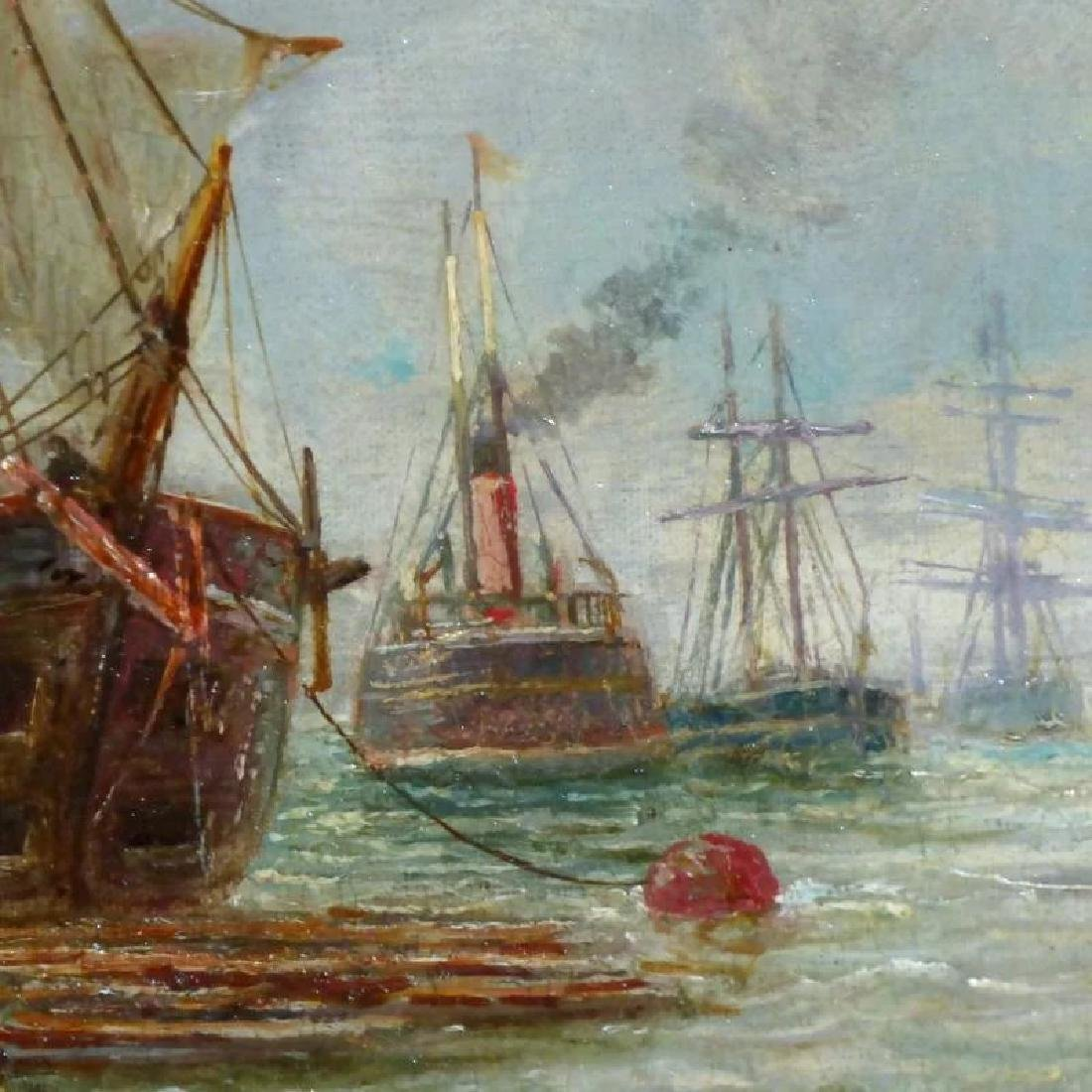 Antique Shipping Scene on the Tyne River, by Bernard B. - 3