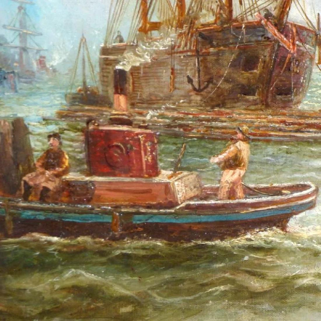 Antique Shipping Scene on the Tyne River, by Bernard B. - 4