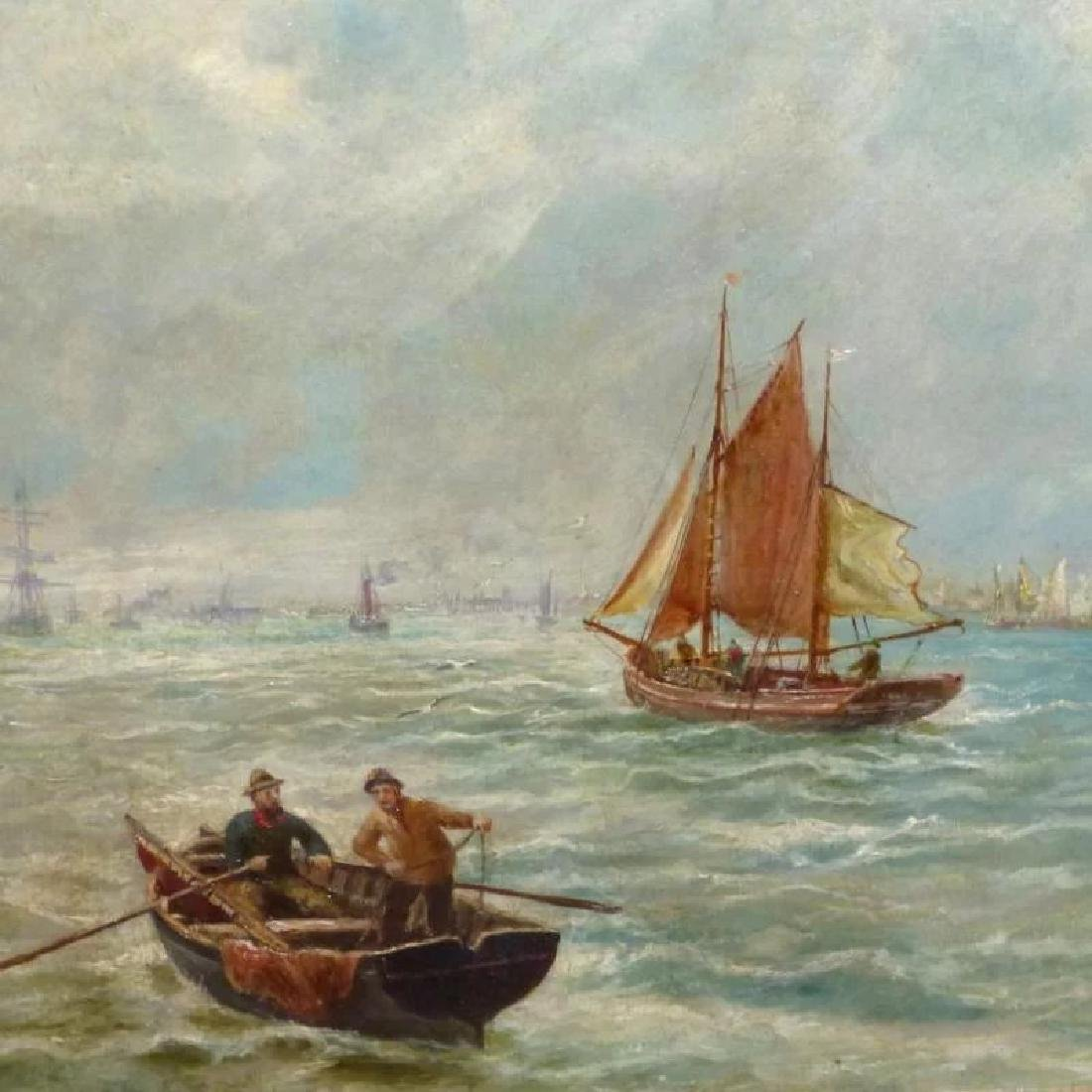 Antique Shipping Scene on the Tyne River, by Bernard B. - 5