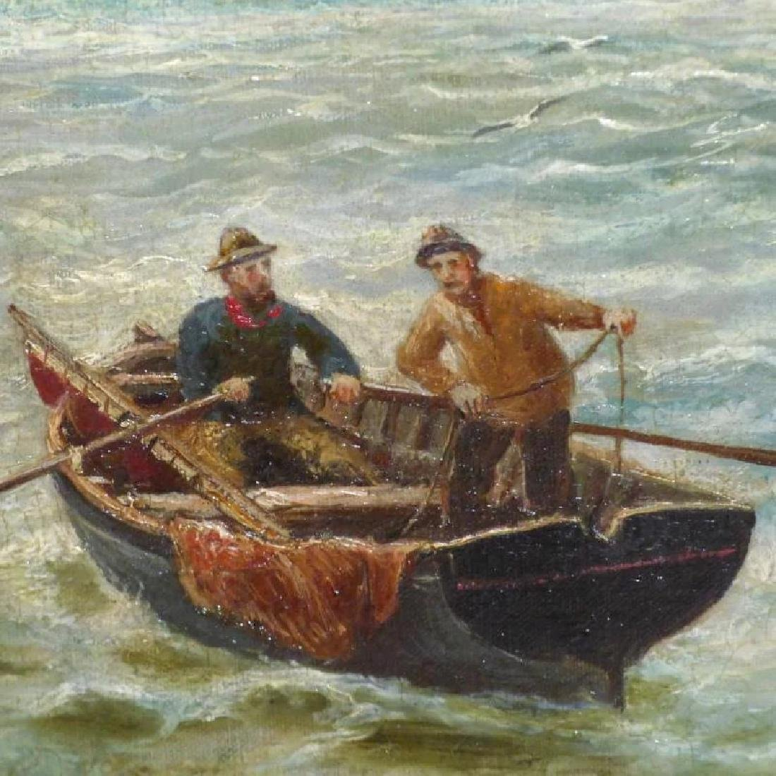 Antique Shipping Scene on the Tyne River, by Bernard B. - 6