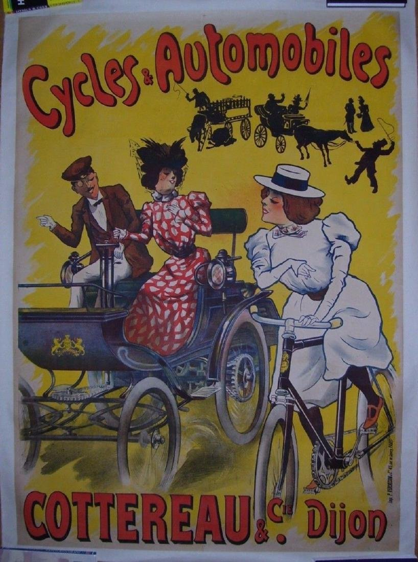 Cycles and Automobiles Vintage Automobile Poster