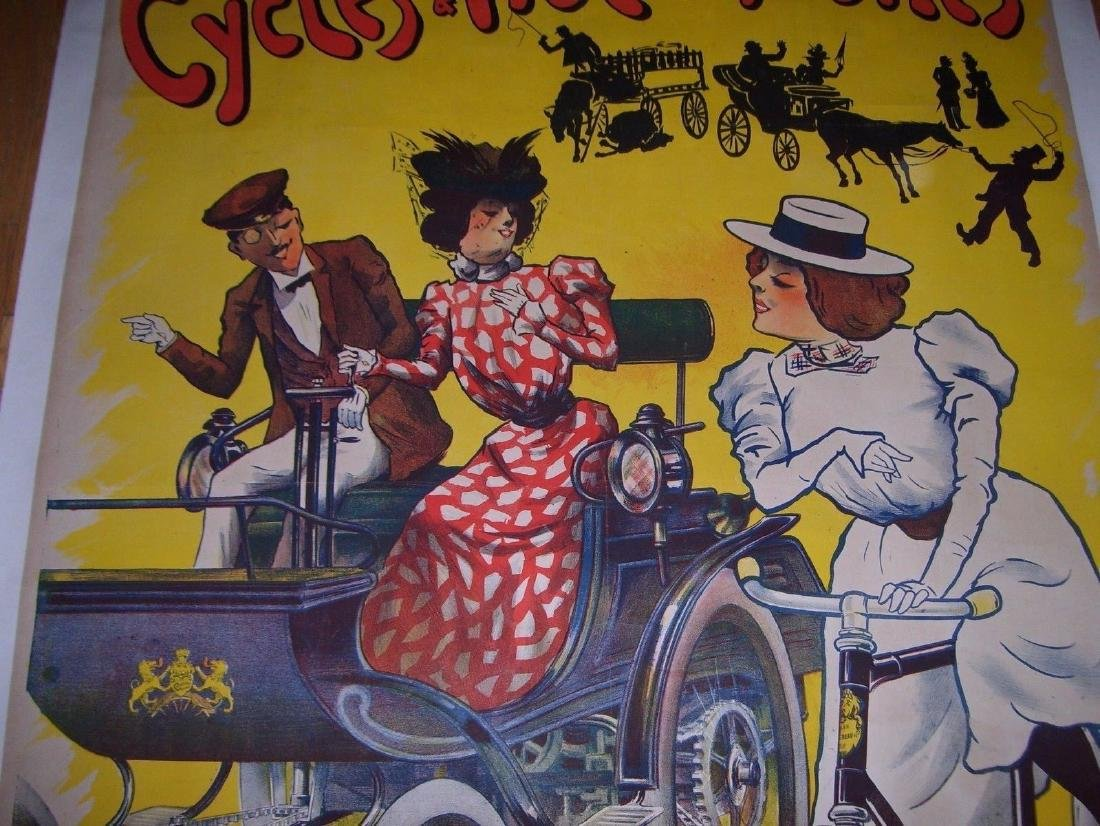Cycles and Automobiles Vintage Automobile Poster - 2