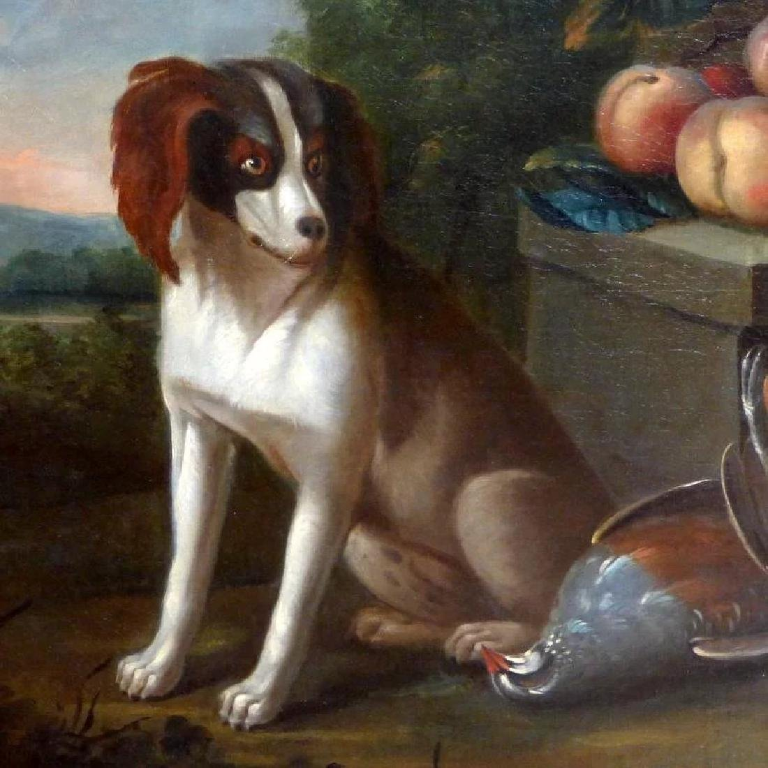 Antique Large 18th Century Dutch Still Life of a Dog - 3