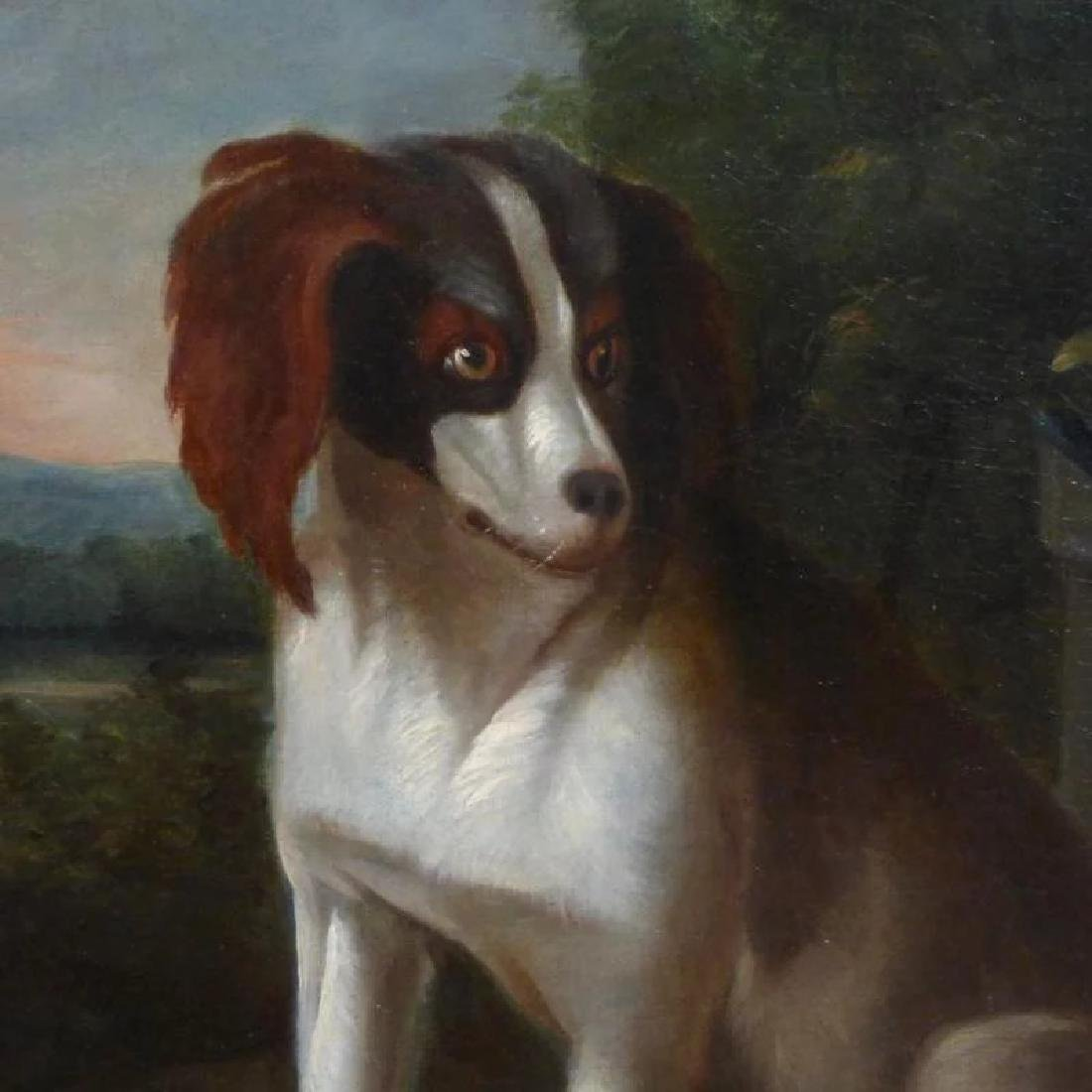 Antique Large 18th Century Dutch Still Life of a Dog - 5