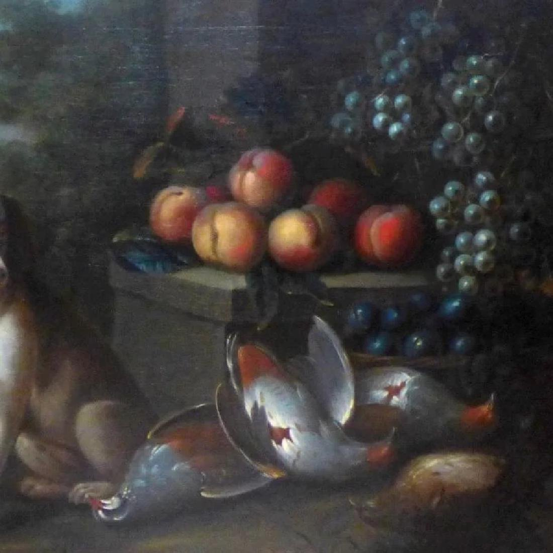 Antique Large 18th Century Dutch Still Life of a Dog - 6