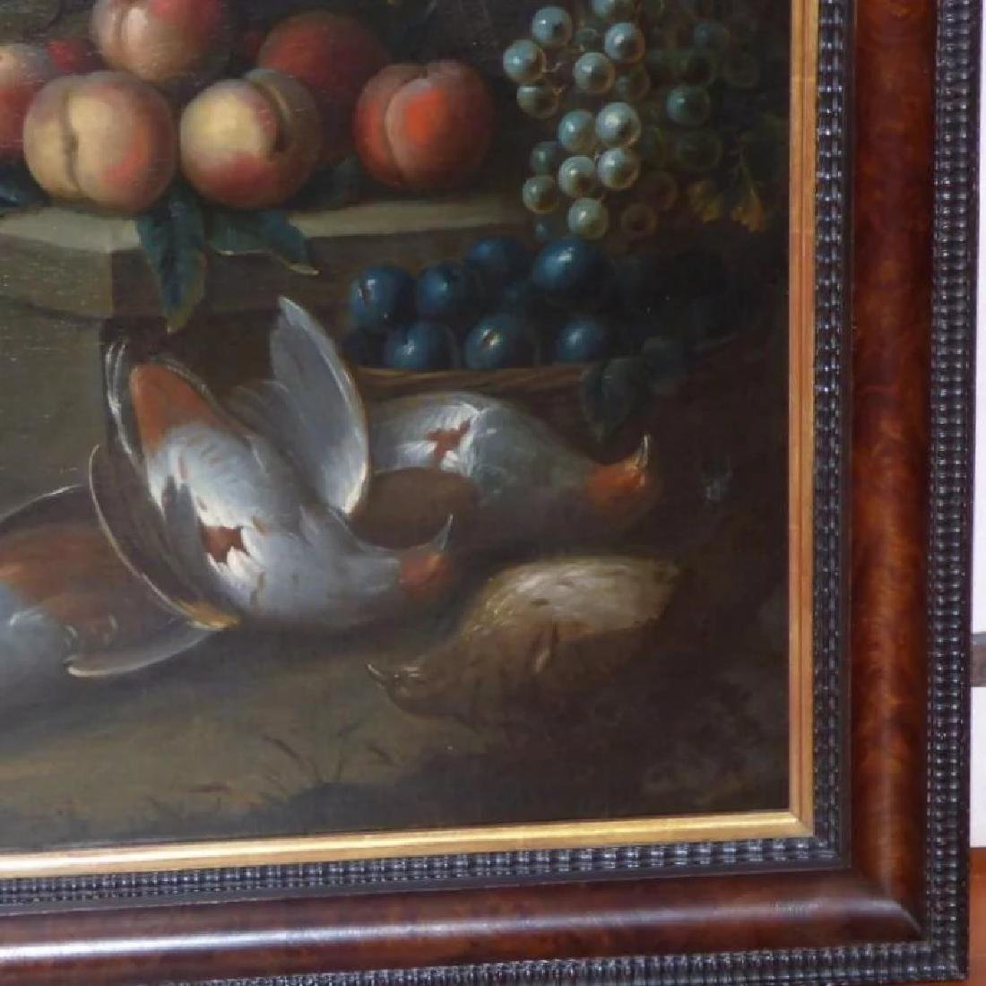 Antique Large 18th Century Dutch Still Life of a Dog - 9