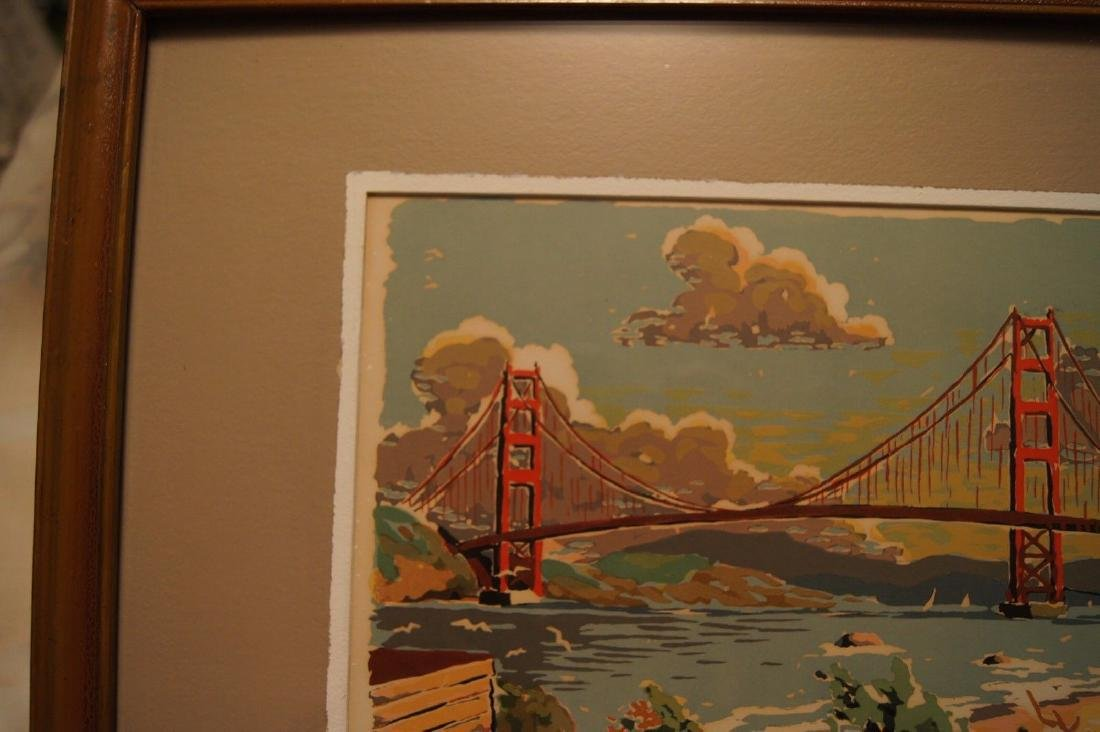 Vintage HARRY REEKS, Golden Gate Bridge - SF, silk - 10