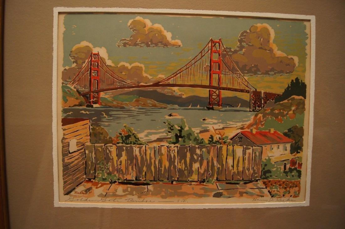 Vintage HARRY REEKS, Golden Gate Bridge - SF, silk - 2