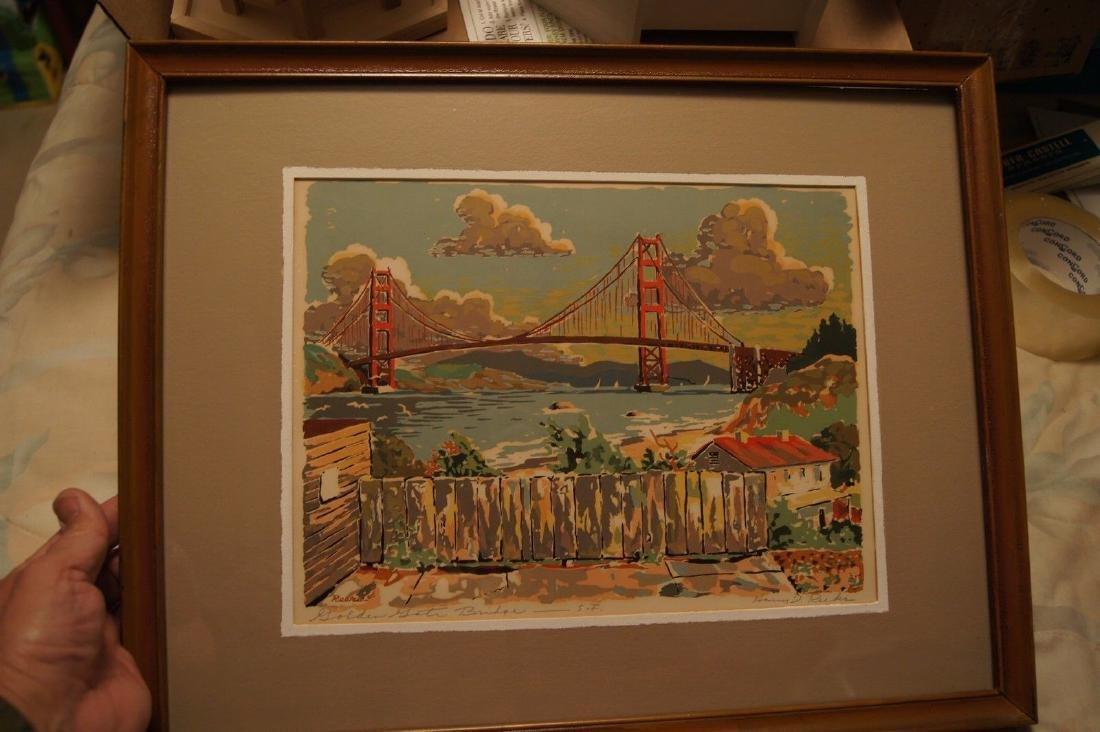 Vintage HARRY REEKS, Golden Gate Bridge - SF, silk - 6