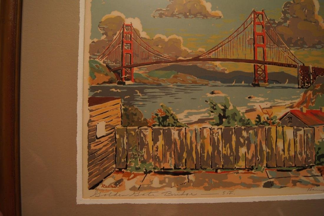 Vintage HARRY REEKS, Golden Gate Bridge - SF, silk - 7