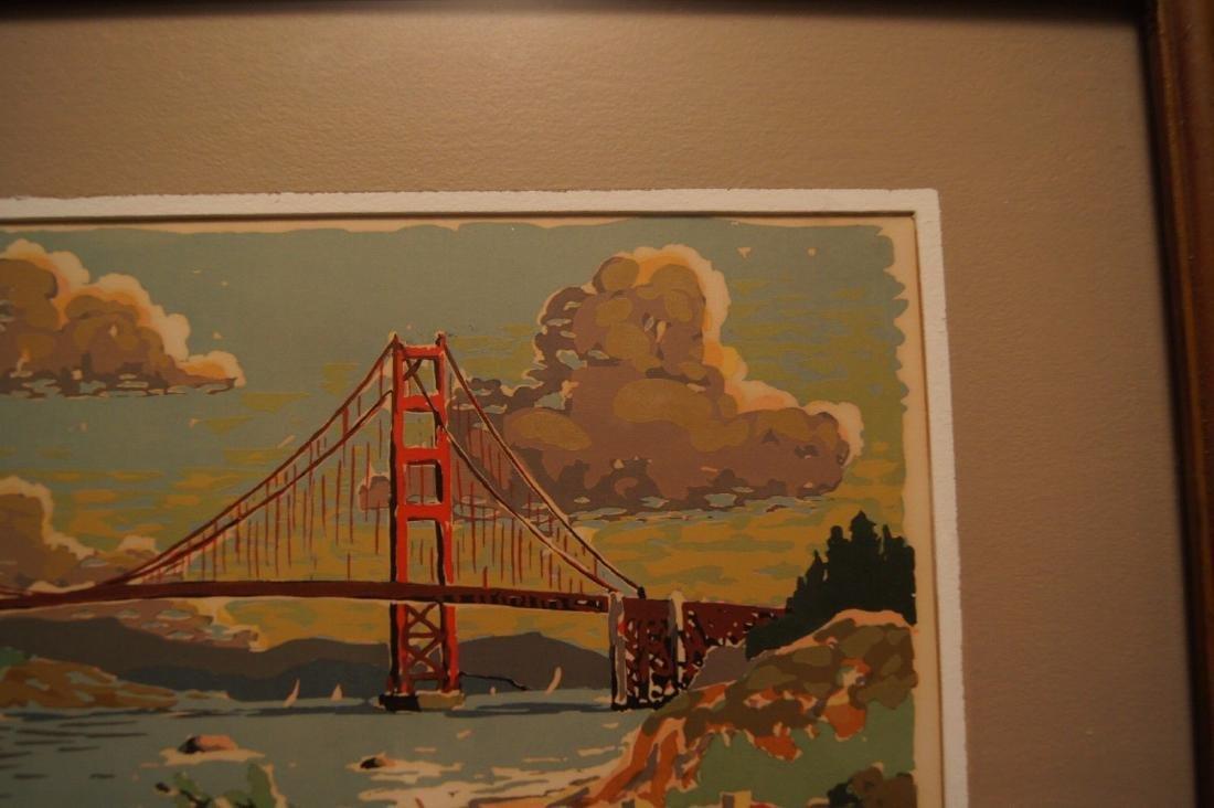Vintage HARRY REEKS, Golden Gate Bridge - SF, silk - 9