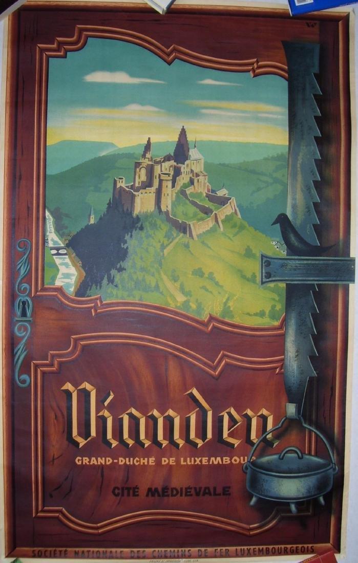 Vianden Luxembourg Travel Poster