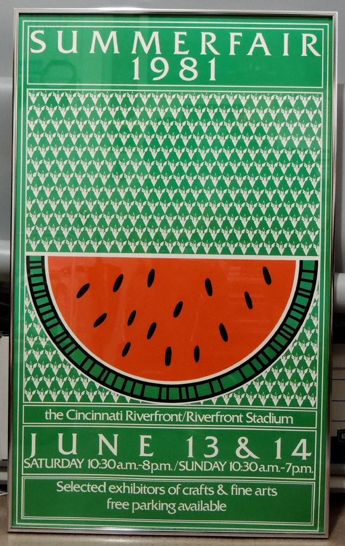 Summer Fair 1981 Cincinnati Original Event Poster - 8