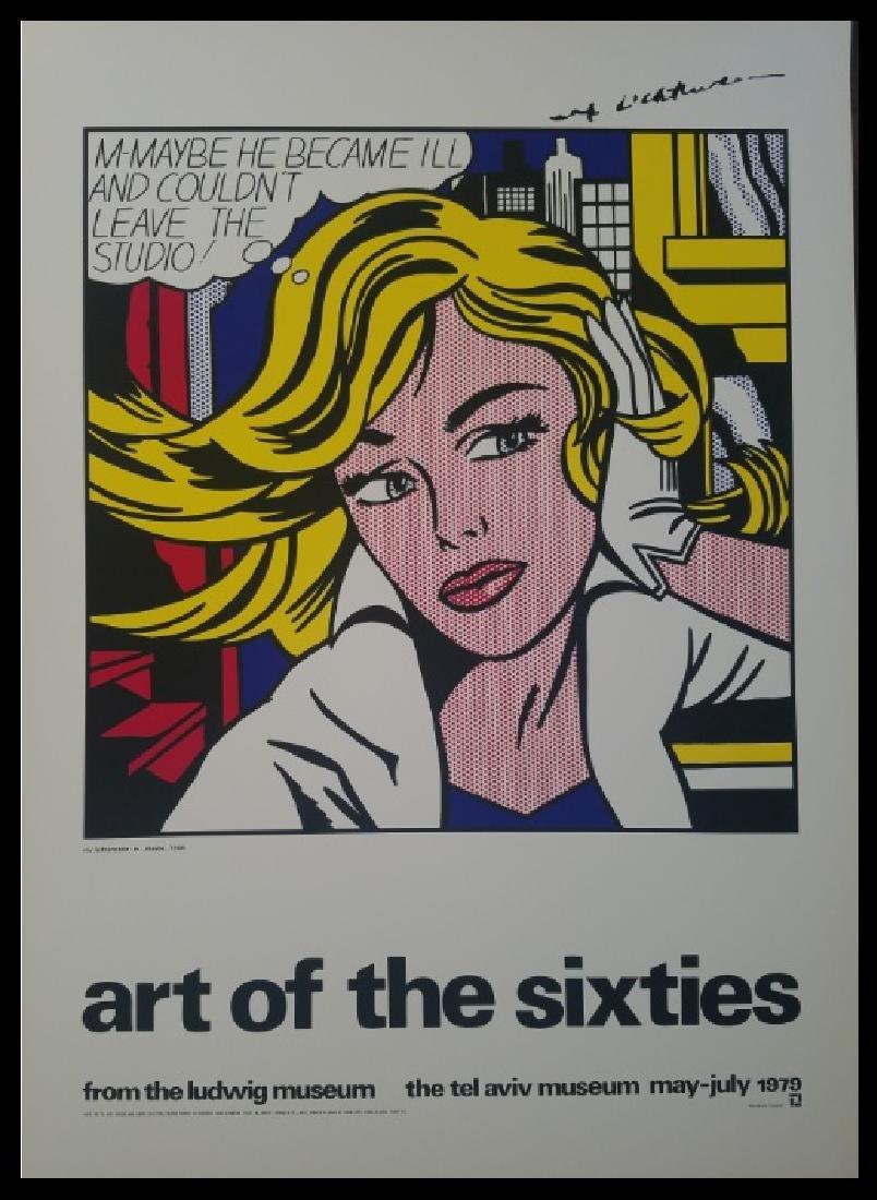 Roy Lichtenstein 1979 LARGE Poster after his 1965