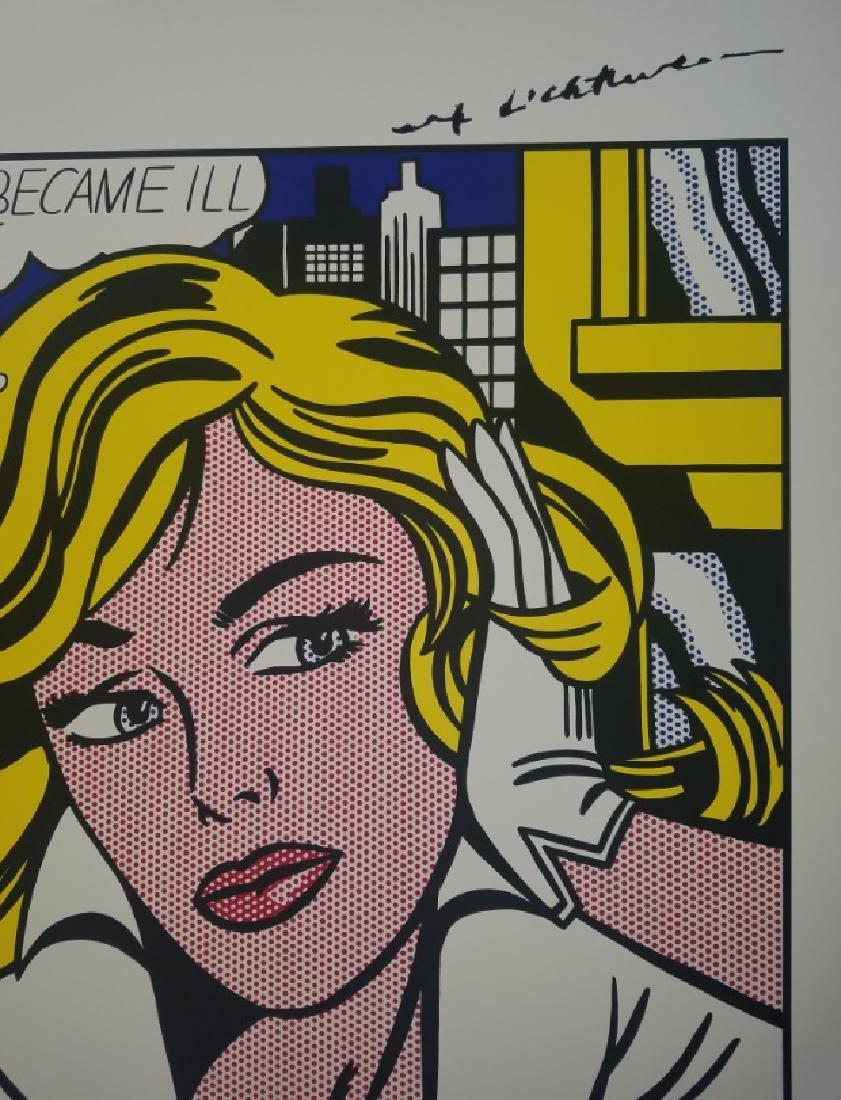 Roy Lichtenstein 1979 LARGE Poster after his 1965 - 4
