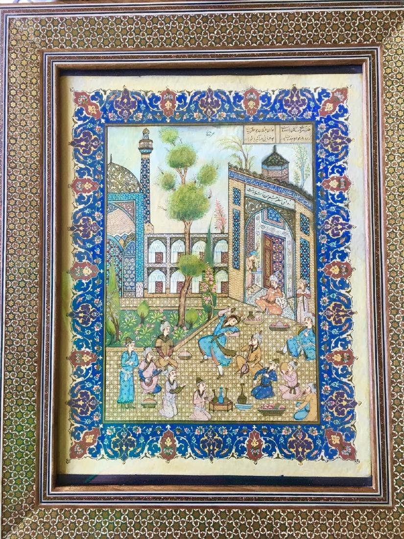 Antique Pahlavi miniaturist - 3