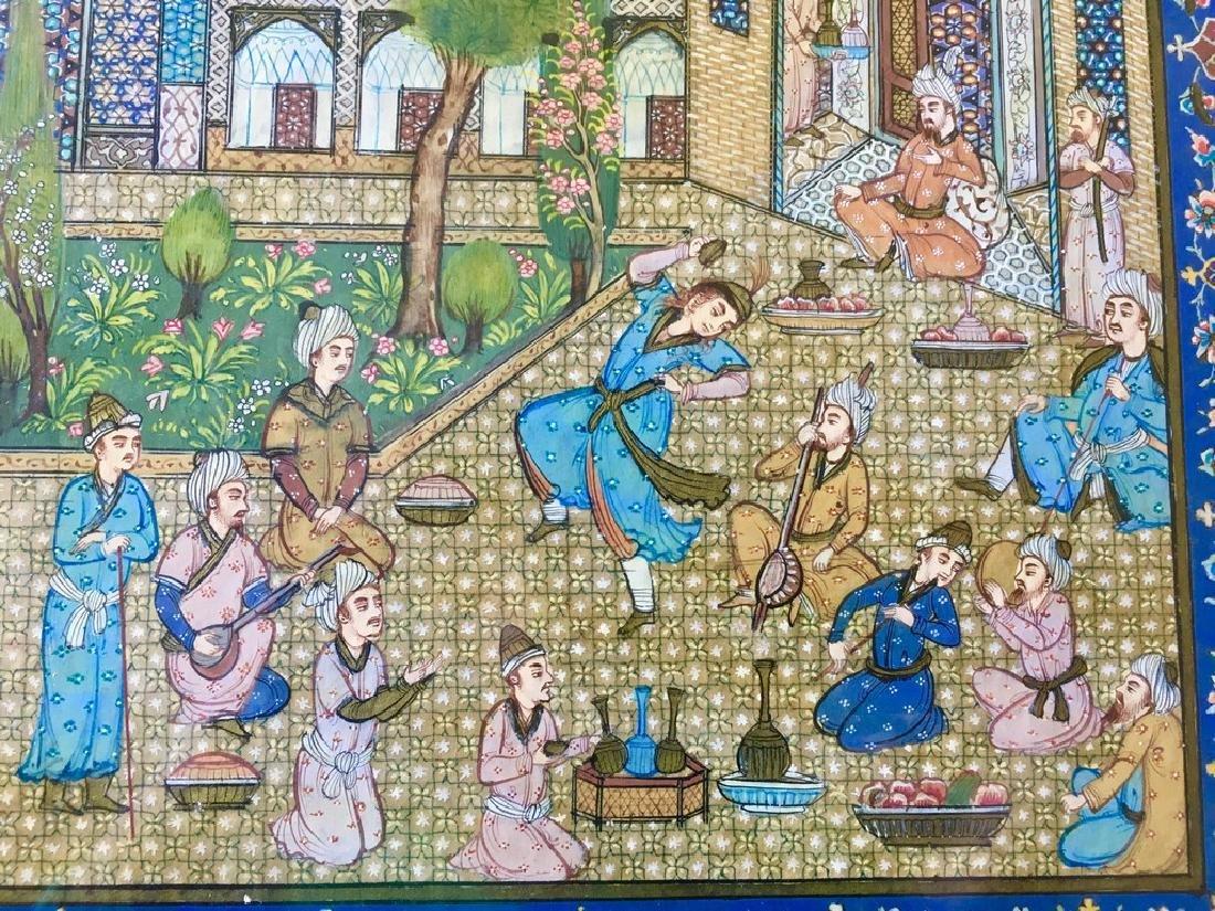 Antique Pahlavi miniaturist - 4