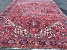 Antique Hand Woven Persian Heriz Serapi Rug 10.5x13.10