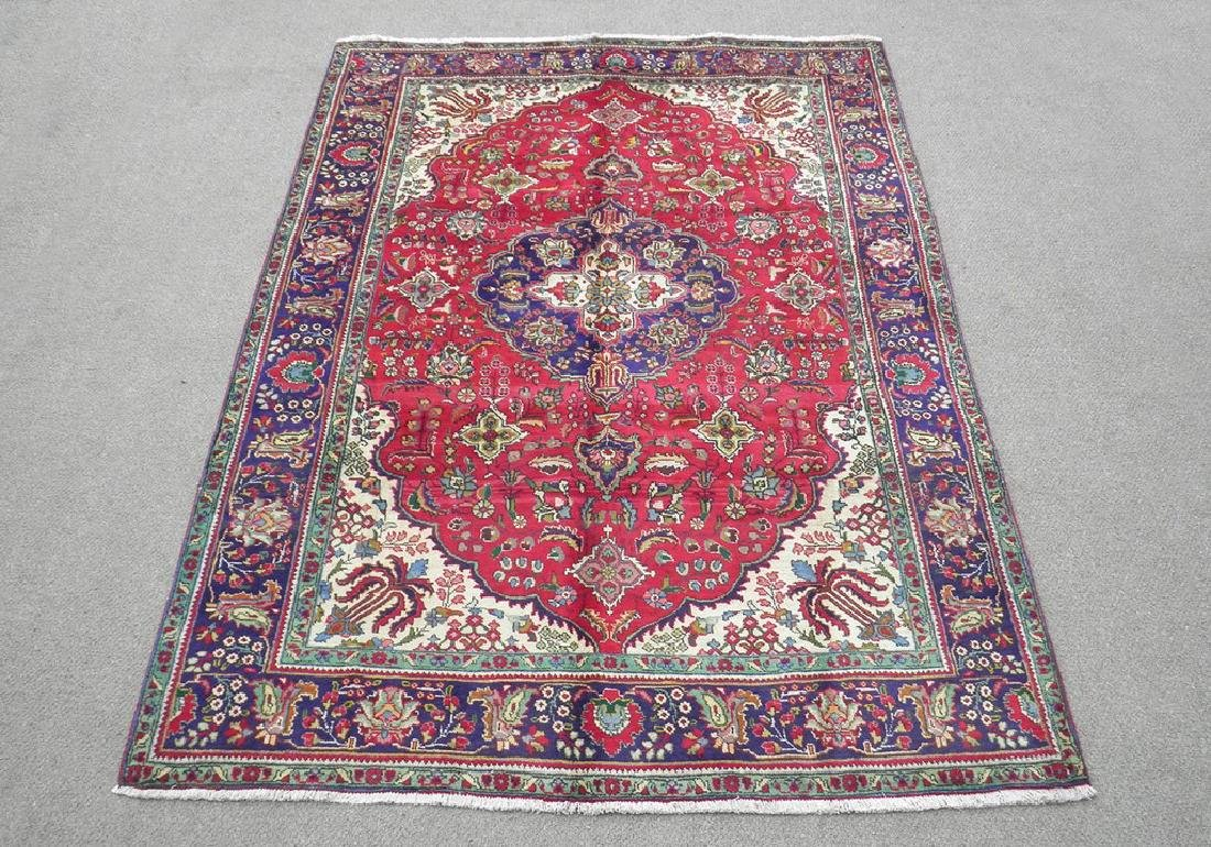 Semi Antique Persian Tabriz Rug 10.5x7