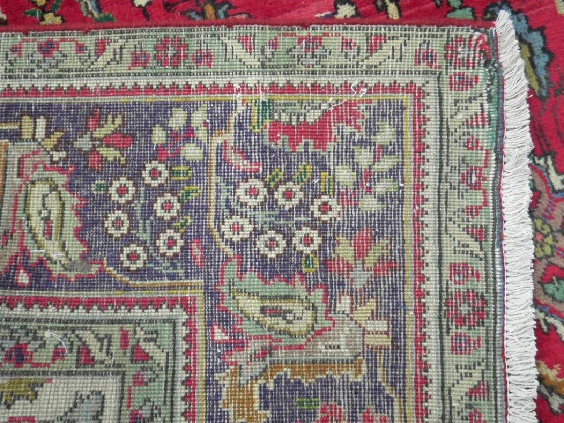 Semi Antique Persian Tabriz Rug 10.5x7 - 6