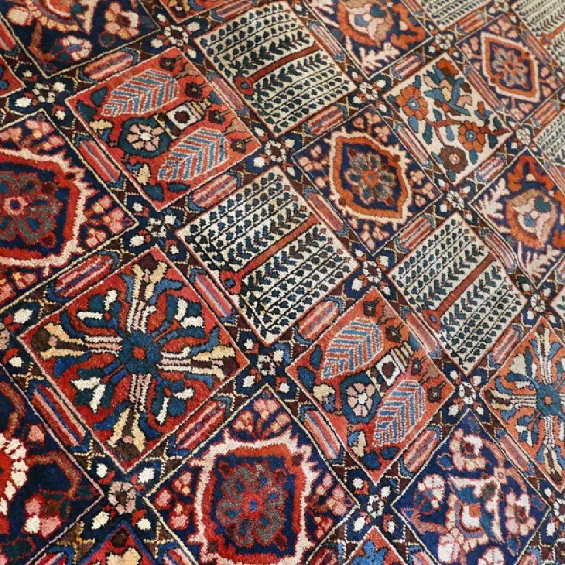 Hand Knotted Vintage Garden Tile Bakhtiar Rug 10x7 - 2