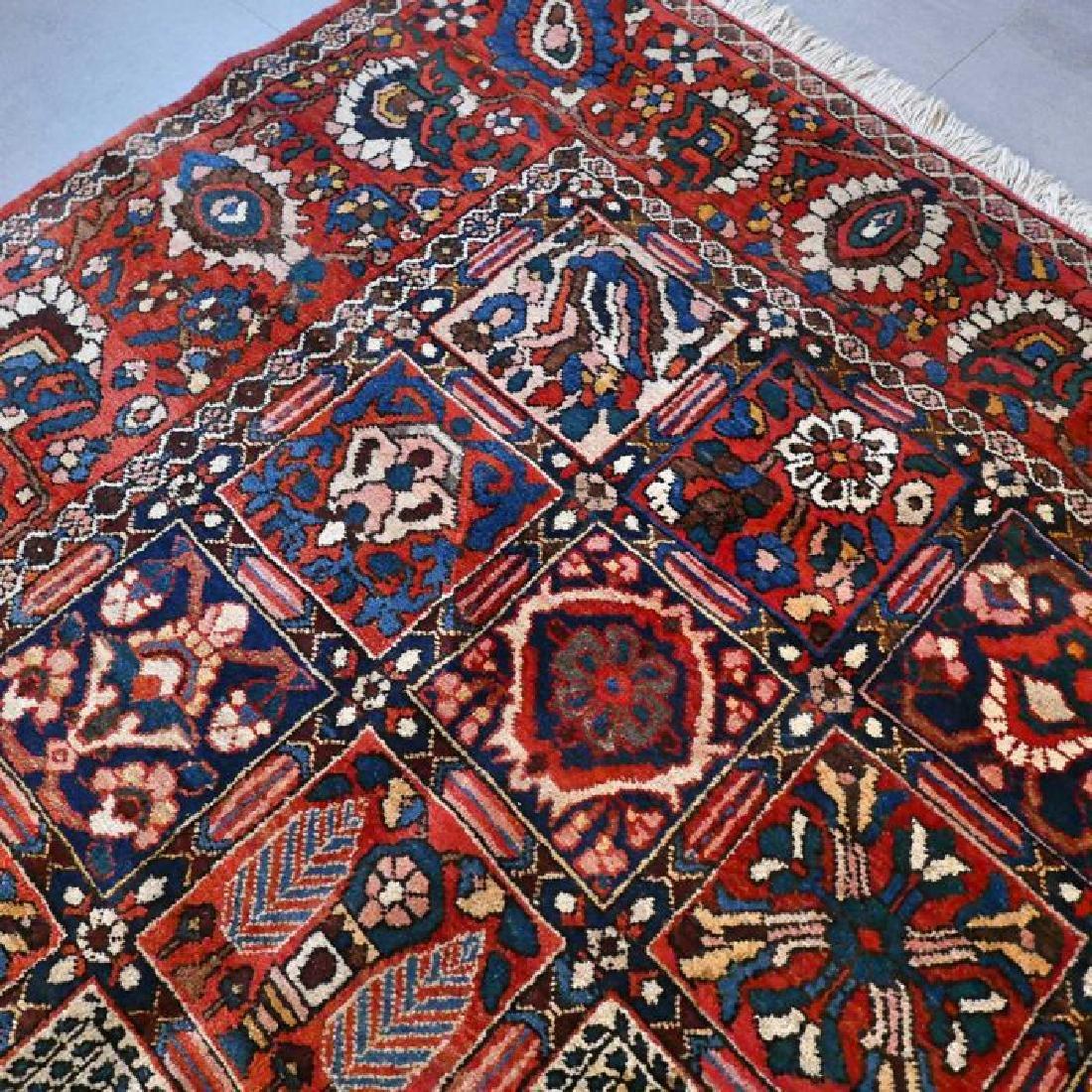 Hand Knotted Vintage Garden Tile Bakhtiar Rug 10x7 - 3