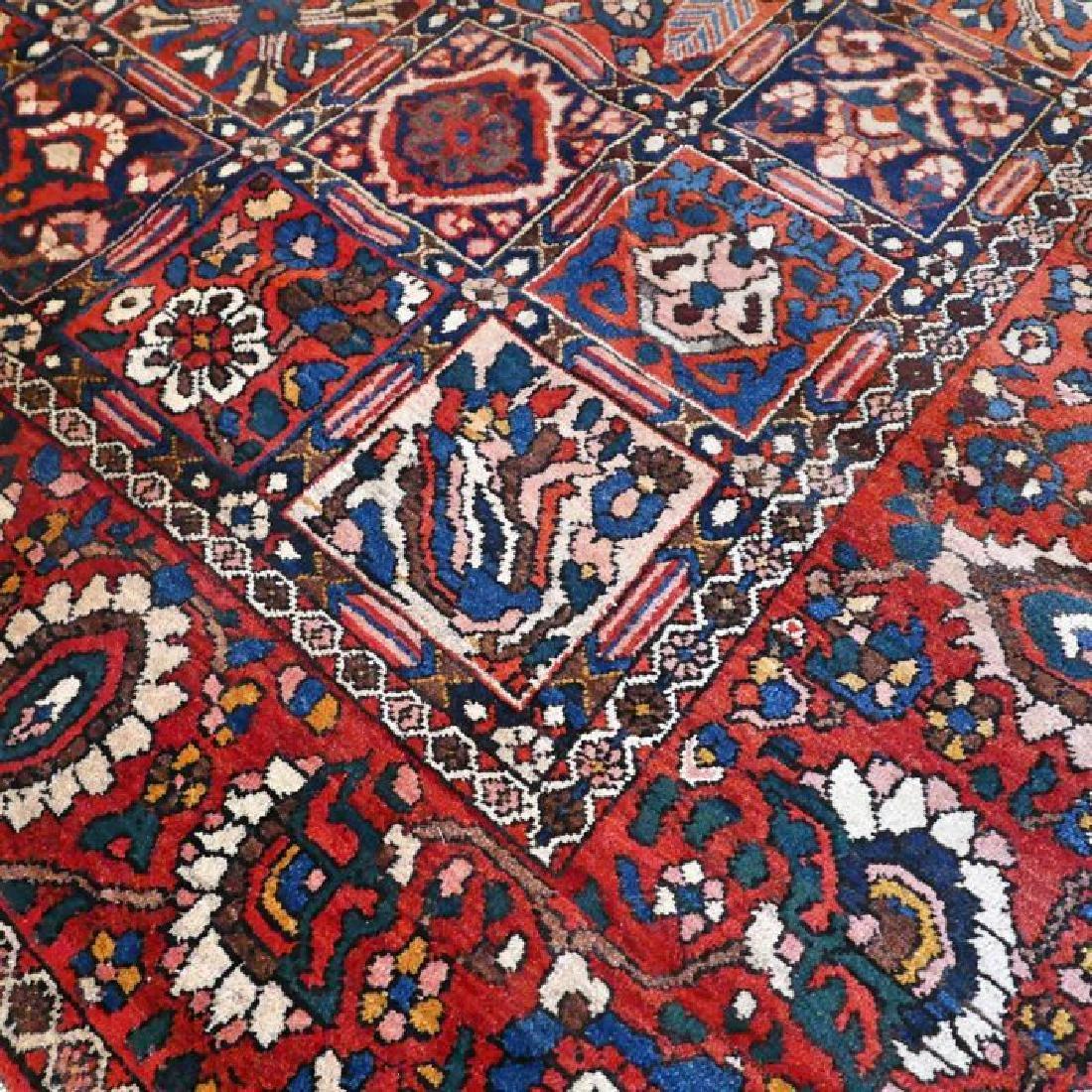 Hand Knotted Vintage Garden Tile Bakhtiar Rug 10x7 - 7