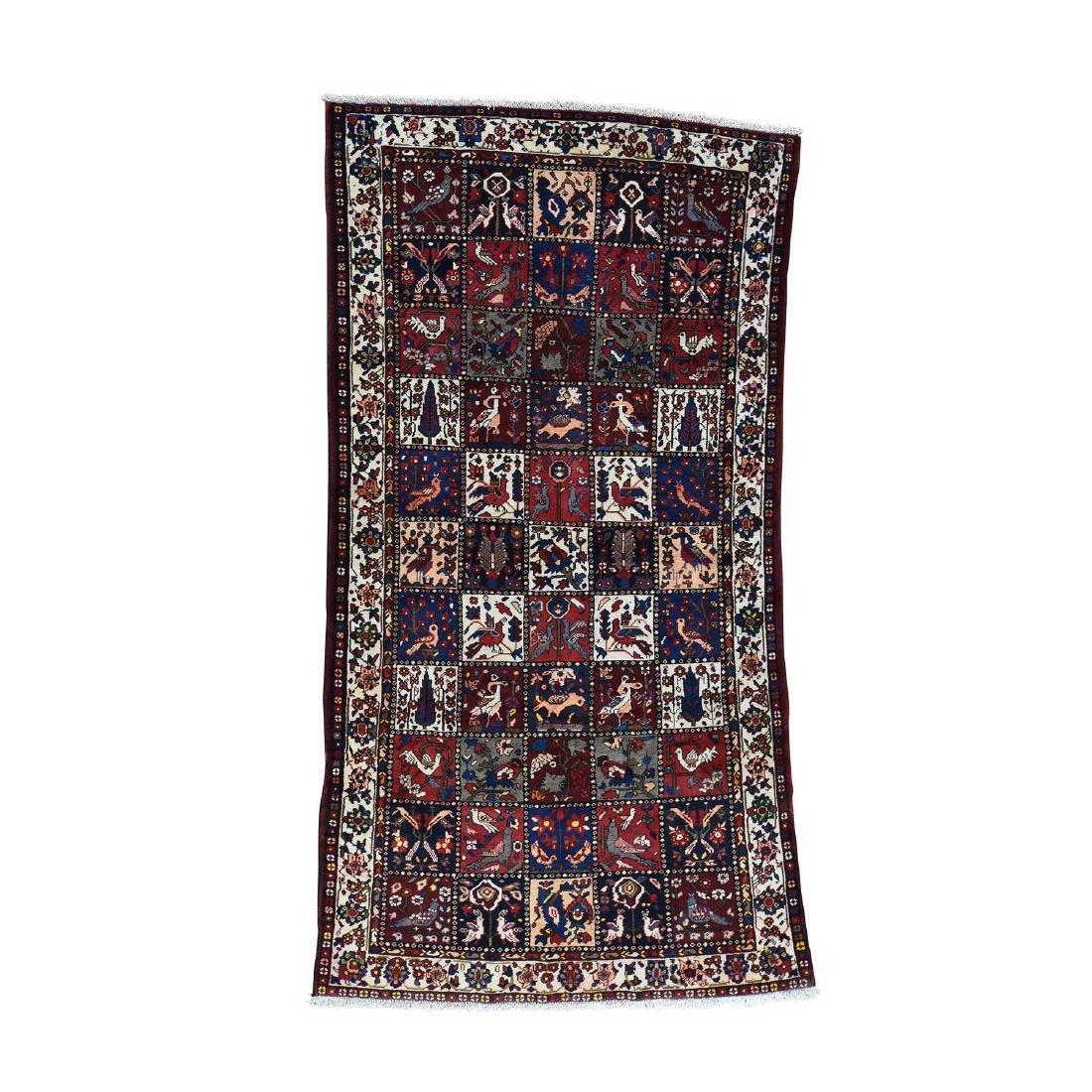 Semi Antique Persian Bakhtiari Garden Runner Rug