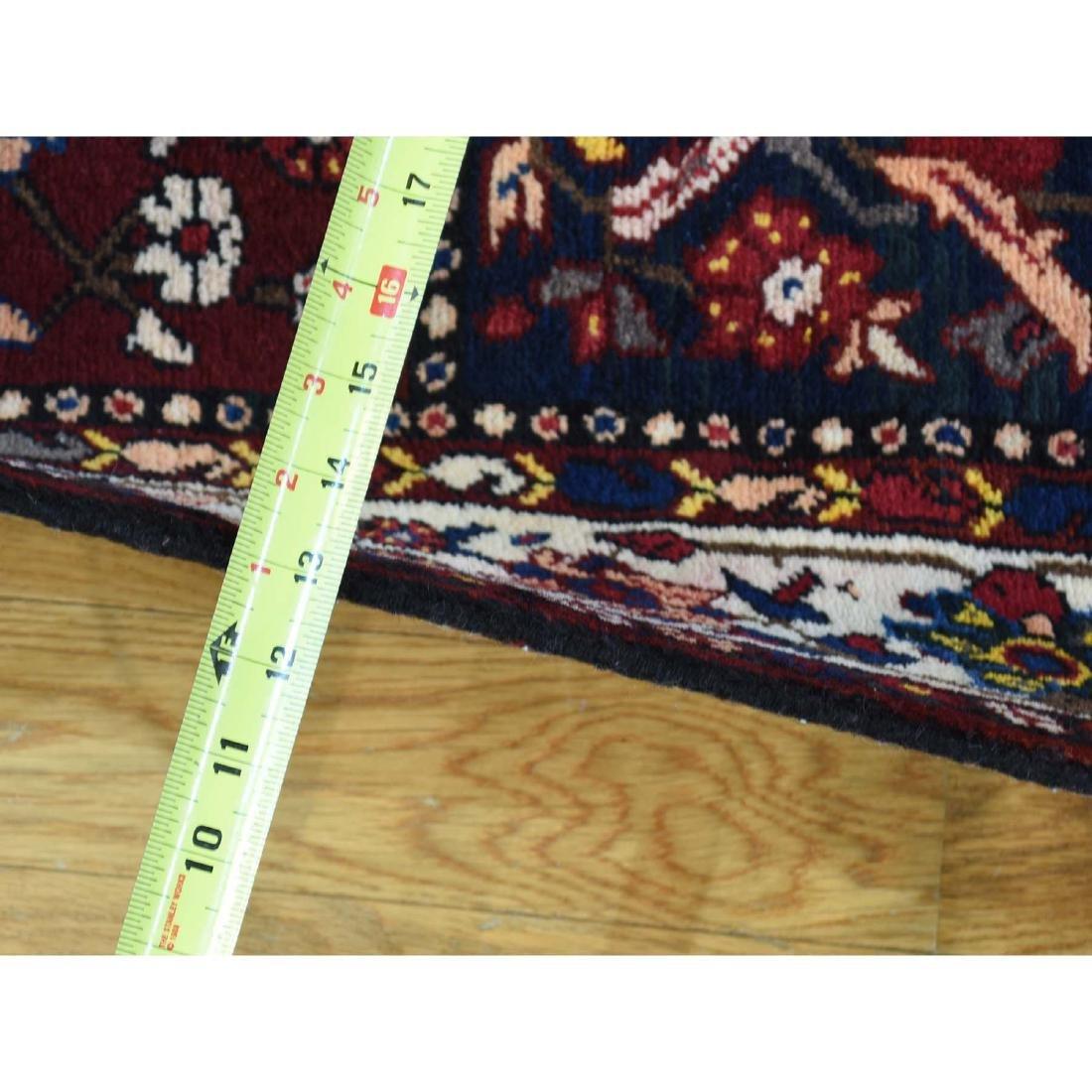 Semi Antique Persian Bakhtiari Garden Runner Rug - 3