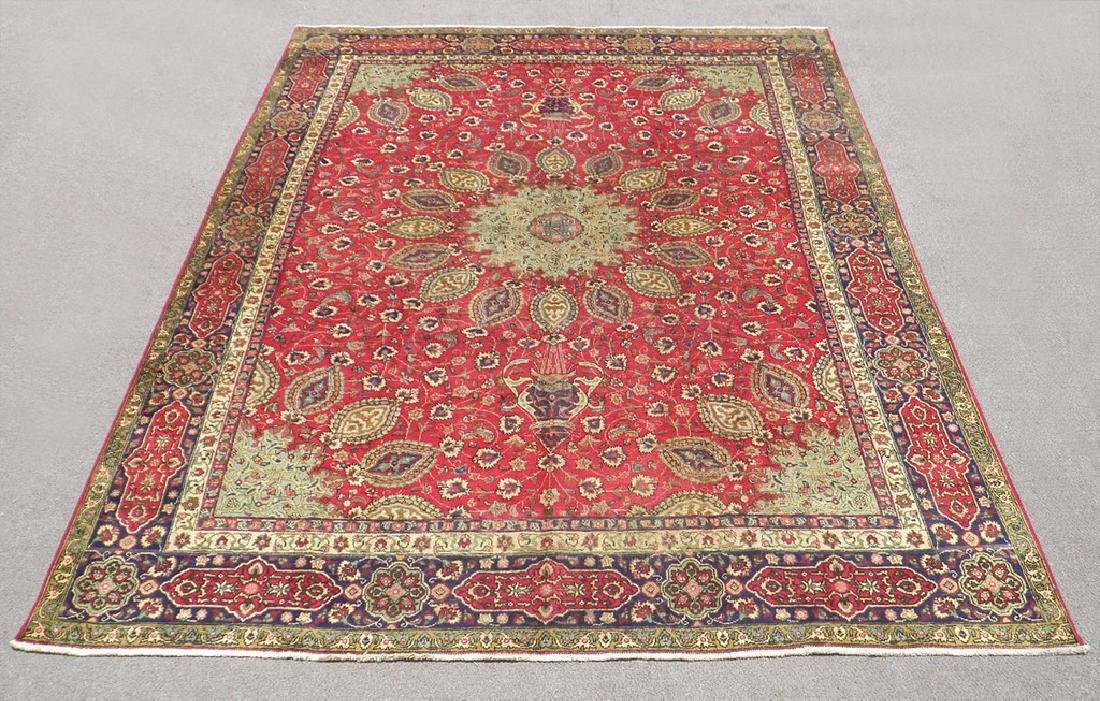 Semi Antique Persian Tabriz Rug 12.6x9.7