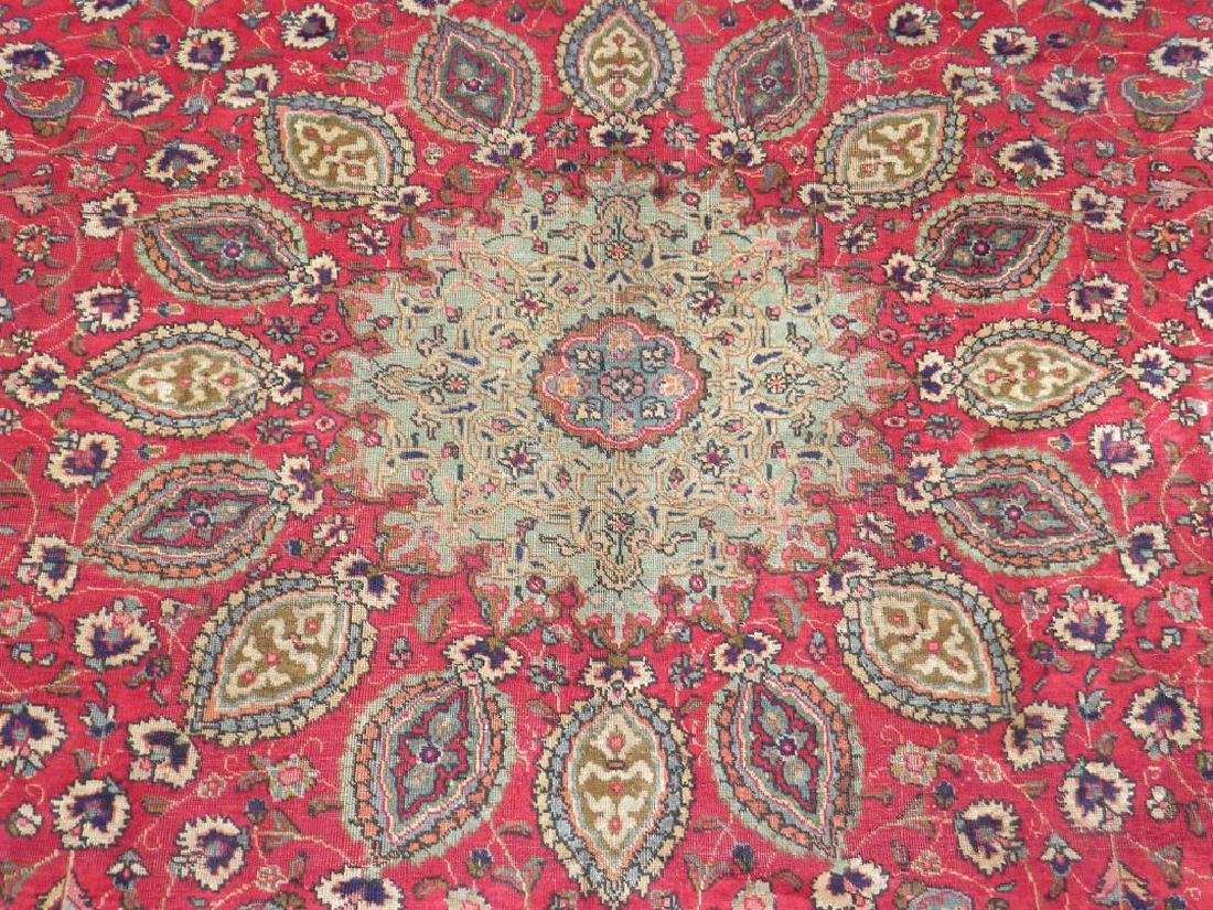 Semi Antique Persian Tabriz Rug 12.6x9.7 - 4