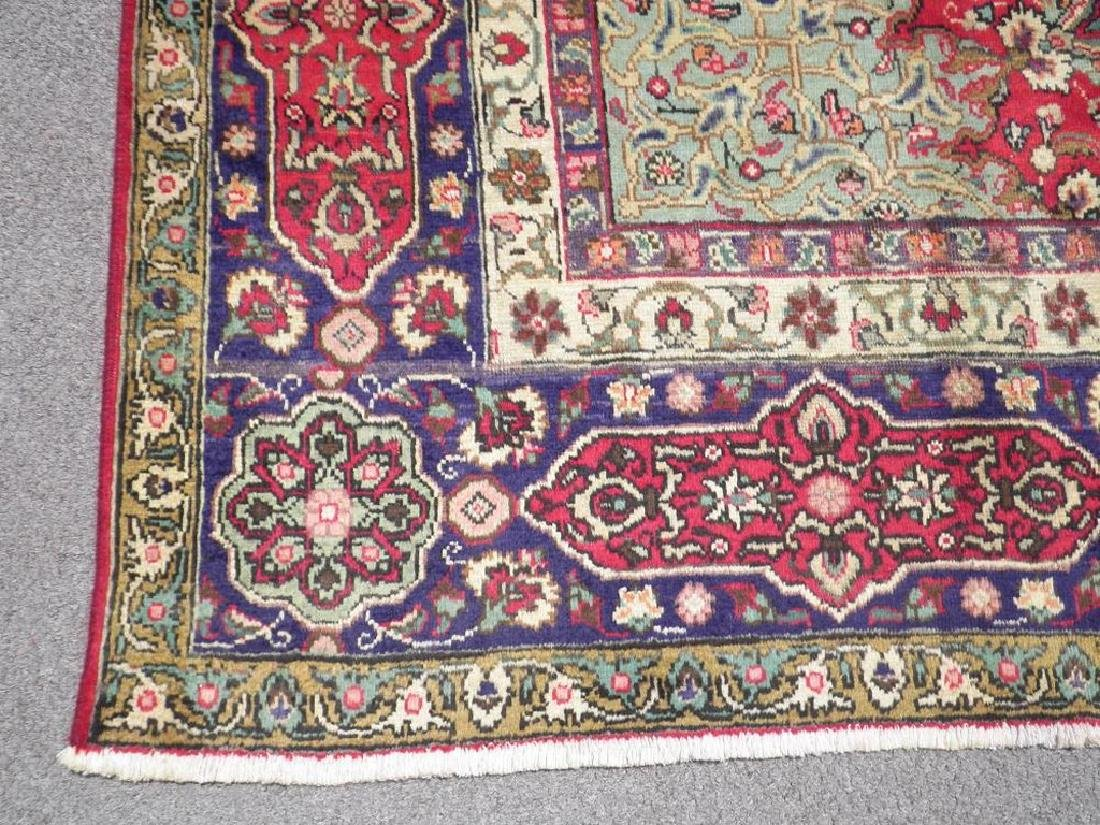 Semi Antique Persian Tabriz Rug 12.6x9.7 - 5