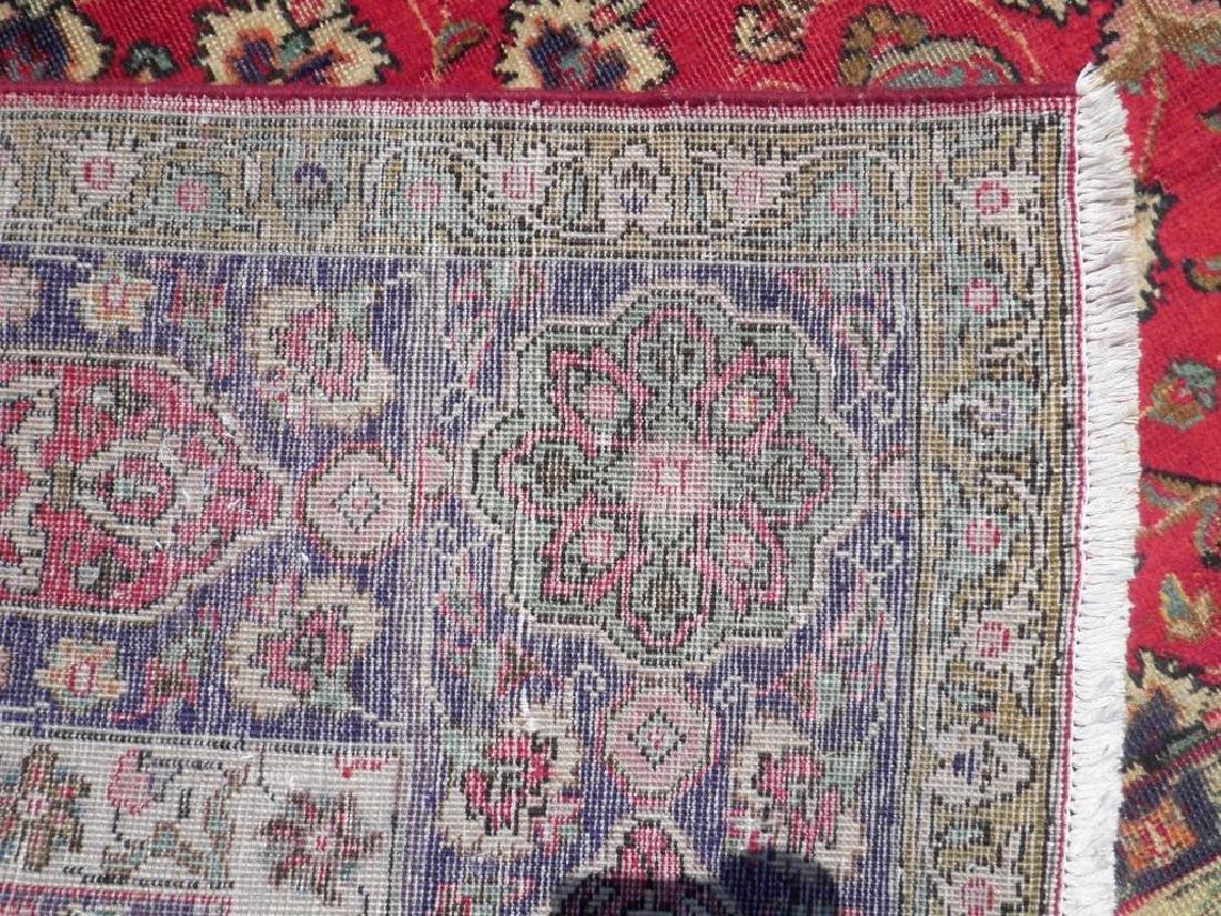 Semi Antique Persian Tabriz Rug 12.6x9.7 - 6