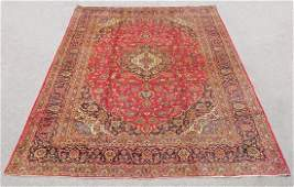 Semi Antique Persian Kashan Rug 13.3x9.8