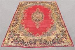 Semi Antique Persian Kerman Rug 14.3x10